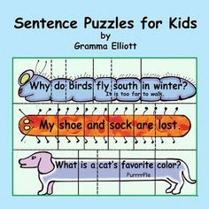 Sentence Puzzles for Learning with Puns and Jokes for home and school