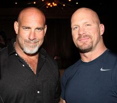 Former WWE pro wrestlers Bill Goldberg and Stone Cold Steve Austin were hanging out at Vanity Saturday night after attending UFC They arrived early and Steve Austin, Austin Wwe, Goldberg Wwe, Bill Goldberg, Wrestling Superstars, Wrestling Wwe, Wwe Lucha, Wwe Superstar Roman Reigns, Stone Cold Steve