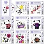 Party Paws EZMount Stamp Sets Bundle and Party Paws Papercrafting CD-ROM