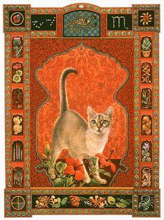 Кошачий гороскоп от Lesley Anne Ivory - Scorpio cat