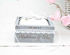 Wedding Ring Bearer Box -Pillow, Beach Wedding, Wedding/Engagement Ring Box, Personalised Wedding Ring Box, Beach Rustic Wedding Ring Holder by simplyWeddingday on Etsy