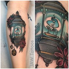 Finished Jess's horcrux lantern today! Some fresh, some healed/healing... Harry Potter for the win!