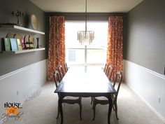 dining_room_thomas_paul_aviary_curtains_tangerine_06 by benhepworth, via Flickr to make your own curtains