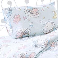 【2017】★Bed Cover 3-Piece Set ★3,218円(税込), Quilt cover約150×210cm, bed sheets約100×200×25cm, pillowcase約43×63cm, 中国製 ★ #SanrioOriginal ★ #LittleTwinStars