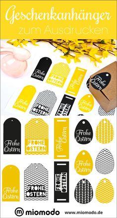 Geschenkanhänger zum Ausdrucken für Ostern! #freebie #printable Instagram: @miomodo