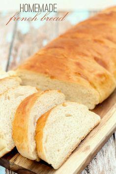 DELICIOUS Homemade French Bread recipe on { lilluna.com }