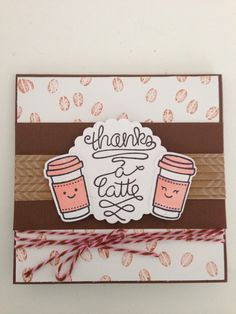Lawn Fawn Love you a Latte card