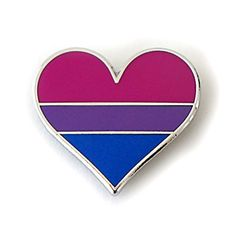 Bisexual pride pin flag - An enamel heart pin gay decorat…