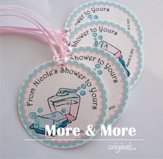 Personalized 1.75inch Circle Tags  Set of by MoreandMoreOriginals, $21.00
