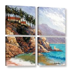 Cabo San Lucas by Rick Kersten 4 Piece Painting Print on Gallery-Wrapped Canvas Square Set
