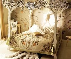 bedroom--over the top, but a great fantasy bedroom