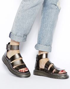 Enlarge Dr Martens Pewter Shore Clarissa Chunky Strap Sandals