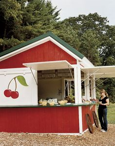 Cherry farm stand...just another reason I love Michigan!