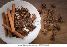 Cinnamon, Star Aniseeds and Cloves Chinese ingredients