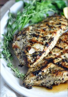"""<p>Recipe here: <strong><a href=""""http://bellyfull.net/2015/07/08/grilled-chicken-breasts-with-herbs-and-lemon/"""" target=""""_blank"""">GRILLED CHICKEN BREASTS WITH HERBS AND LEMON</a></strong></p>"""