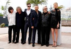 Charlize Theron, George Miller, Tom Hardy, Nicholas Hoult and Doug Mitchell at event of Mad Max: Fury Road