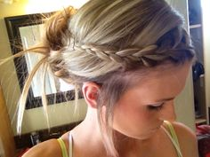 Step-by-step braided messy bun.