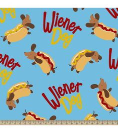 Anti-Pill Fleece Fabric-Weiner Dog Fabric