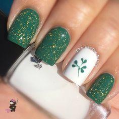 thecraftyninja ST Patrick'S DAY #nail #nails #nailart
