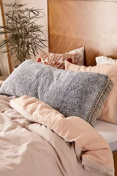 Shop Amped Fleece Fringed Body Pillow at Urban Outfitters today. Discover more selections just like Ikea Bedroom, Cozy Bedroom, Bedroom Decor, Master Bedroom, Bedroom Ideas, Master Suite, Bedroom Romantic, Bedroom Wardrobe, Bedroom Storage