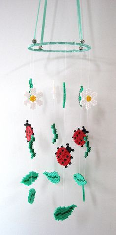 DIY Spring mobile hama perler beads