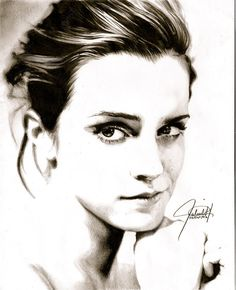 """Emma Watson Portrait"" • ParaguayDraw {pencil drawing}"