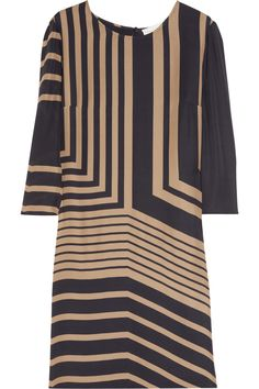 Penelope printed silk shift dress
