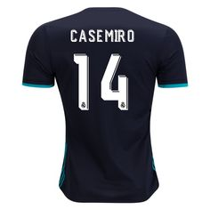 fb7bc191382 17 18 Casemiro Jersey Number 14 Away Men s Authentic Real Madrid Soccer  Real Madrid Shirt