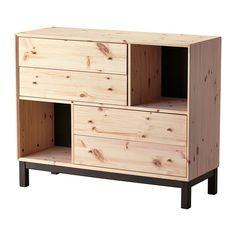 IKEA - NORNÄS, Ladekast met 4 lades en 2 vakken, , Gemaakt van massief hout, een slijtvast en warm natuurmateriaal.Met BRANÄS en DRÖNA kunnen allerlei dingen overzichtelijk worden opgeborgen.