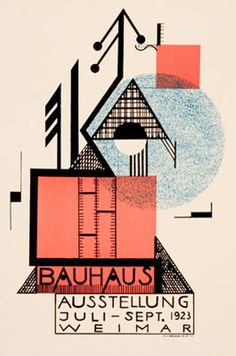 1923 German Weimar Bauhaus Art Exhibition by VintagePosterShopUK Art Bauhaus, Bauhaus Style, Bauhaus Design, Poster Retro, Vintage Posters, Cover Design, Design Art, Urban Design, Layout Design