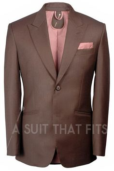 Première Two Piece Suit with a tan lining.