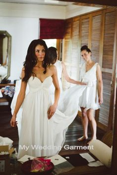 Simple Sweetheart White Beach Wedding Dress Destination Gown on Etsy, $139.00