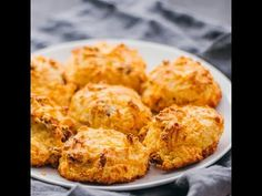 Here's the best and easiest recipe on how to make low carb biscuits that are keto friendly! They're made with almond flour and cheddar cheese, and you can enjoy them for breakfast or as a snack any time of the day.