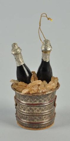German Wine Bucket ... A Dresden Christmas Ornament.