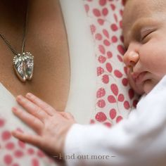 Baby feet miniature personalised pendant