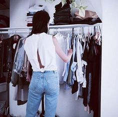 Emilie going through her closet wearing her Buttoned Back Shirt from KIMEM'S very first season ever   #KIMEM #SS14 #Poplin #Backshirt #Classic #Timeless