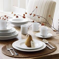 Table Setting 2 Staccato tableware by Crate&Barrel.