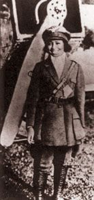 """In 1921, Bessie Coleman became the first African-American (man or woman) to earn a pilot's license. She went to France to get her license. She was known as """"Brave Bessie"""" during her barnstorming days, and she flew in air shows to raise money for an aviation school for blacks."""
