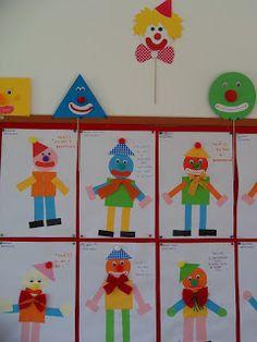Educação Pré-escolar - Marzovelos: Formas geométricas e Palhaços - J I Marzovelos