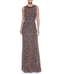 Sleeveless+Confetti-Beaded+Gown,+Mulberry+by+Jenny+Packham+at+Neiman+Marcus. Mother of the bride