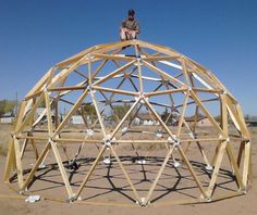 XLG Geodesic Dome Connector Kits using 2x4's (not included). $149.00 Need 165 four foot lengths of 2 x 4's to go with this kit so that would be eighty three 2 x 4's