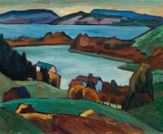 landscape, painting by Gabriele Münter (German, 1877–1962)-via kettererkunst...