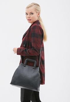 Faux Leather Satchel   FOREVER21 - 1000135470