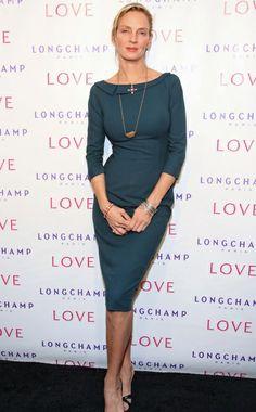 Ten Best Dressed — Modern Cocktail beautiful, classy Uma...love the jewelry...
