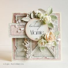 Arts&Crafts keep me sane.: Na dzień matki znów Pretty Cards, Cute Cards, Wedding Anniversary Cards, Wedding Cards, Card Creator, Mixed Media Cards, Envelopes, Shabby Chic Cards, Mothers Day Cards