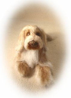 Needle felted Bearded Collie