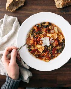 Tomato Artichoke Lentil Stew | A Couple Cooks