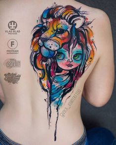 Girl Tattoo Idea by vika_kiwitattoo