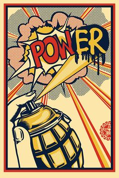 OBEY POWER OFFSET #PRINT #COMICS #GRAFITTI