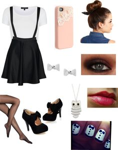 """""""girly outfit 3"""" by sophstar2000 ❤ liked on Polyvore"""